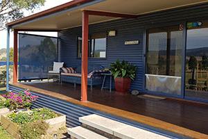 Wattle Lodge Front Deck